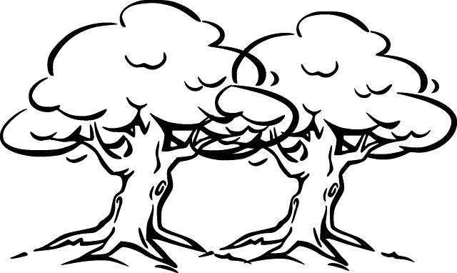 Trees Wind Cartoon · Free Vector Graphic On Pixabay