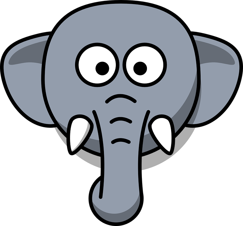 Gajah Kepala Bodoh Gambar Vektor Gratis Di Pixabay
