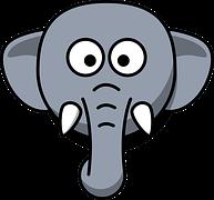 da event tegn elefanter i zoo