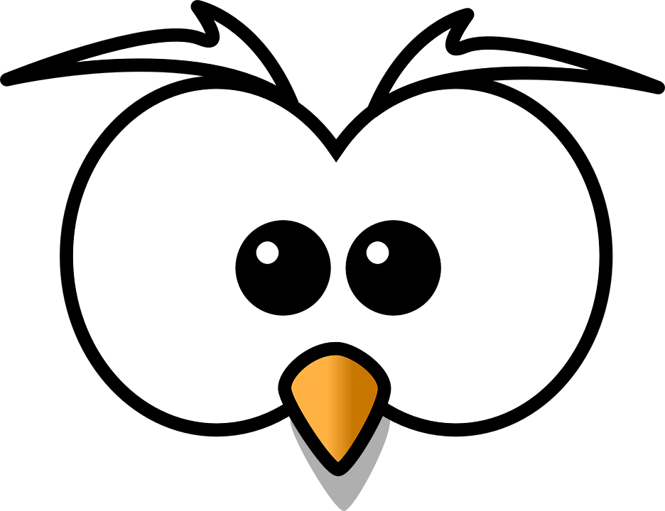 Owl hoot head free vector graphic on pixabay for Owl beak drawing