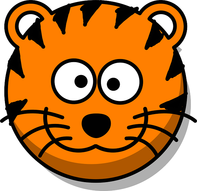 Tiger Head Grin · Free vector graphic on Pixabay