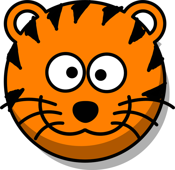 tiger head grin free vector graphic on pixabay rh pixabay com  free tiger head clipart vector
