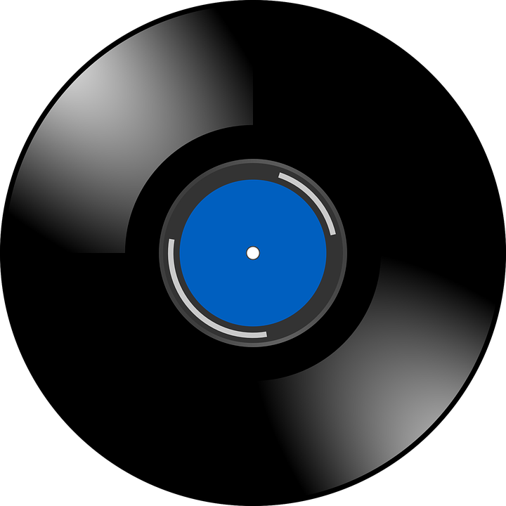 Vinyl, Record, Sound, Music, Retro, Blue