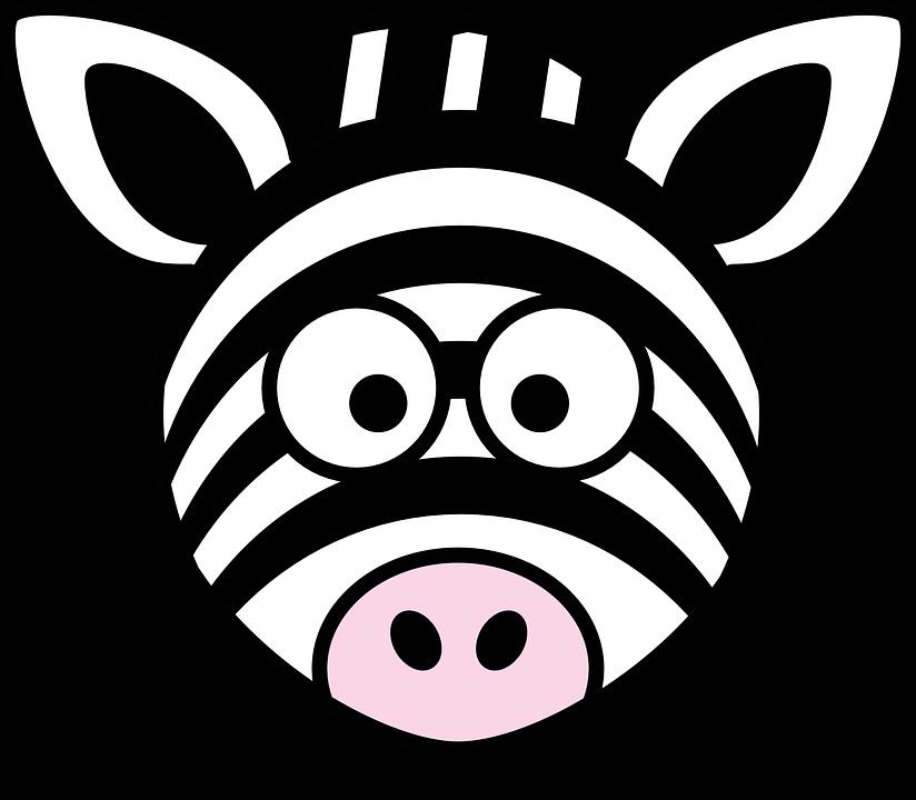 Zebra Kopf Dumm · Kostenlose Vektorgrafik auf Pixabay