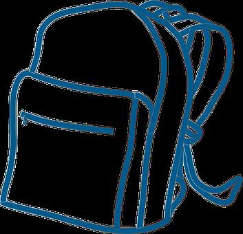 Batoh, Ruksak, Student, Školy, Modrá