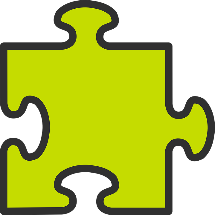 Jigsaw Puzzle Piece Game Concept Solution