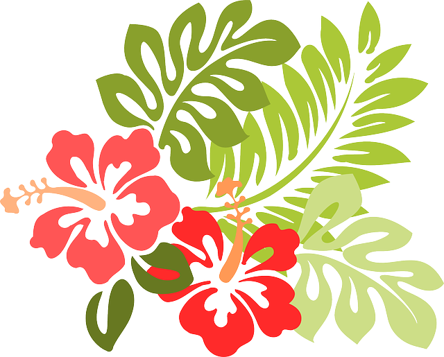 Tropical Island Flowers: Kostenlose Vektorgrafik: Hawaii, Hibiskus, Flora, Blumen