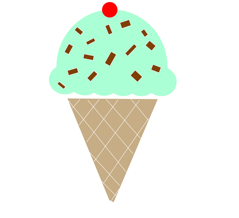 Ice Cream Cone Mint Chocolate · Free vector graphic on Pixabay