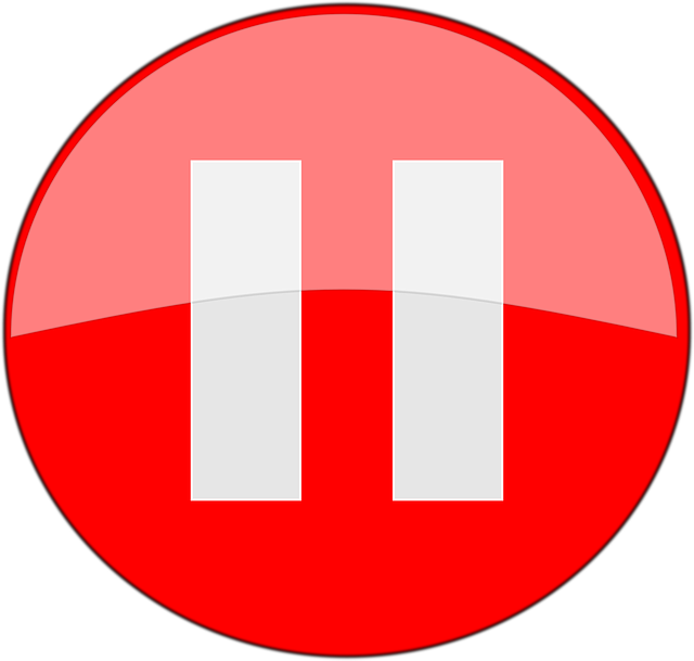 button pause stop 183 free vector graphic on pixabay