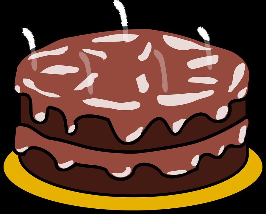 Cake Raffle Clipart : Kostenlose Vektorgrafik: Kuchen, Schokolade, Zuckerguss ...