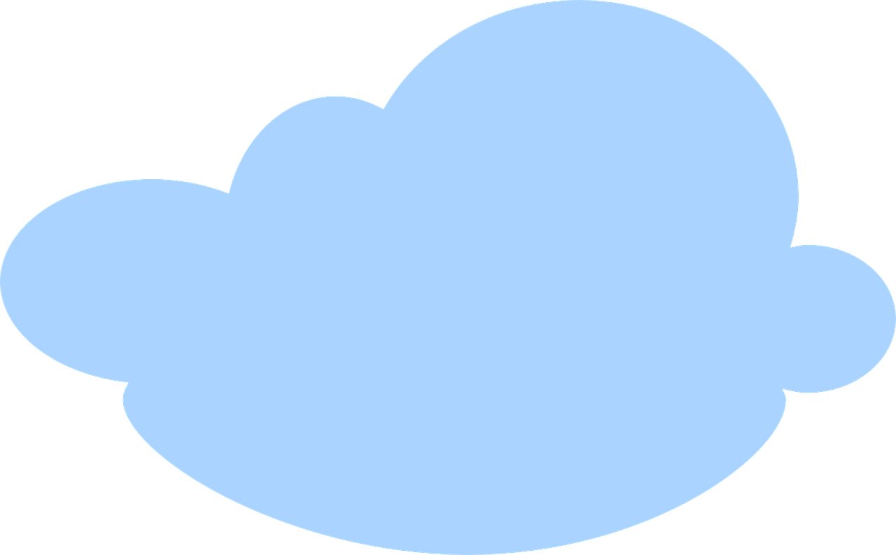 Голубое облако картинка