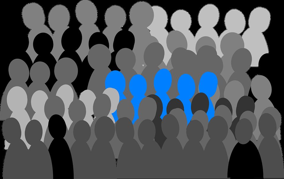 Multitud De Gente Silueta: Grupo Multitud Personas · Gráficos Vectoriales Gratis En