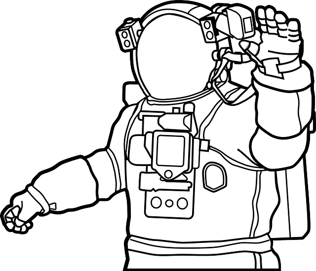 astronaut space suit drawing - photo #25
