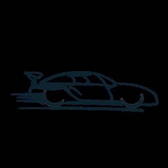 Voiture De Course, Logo, Symbole