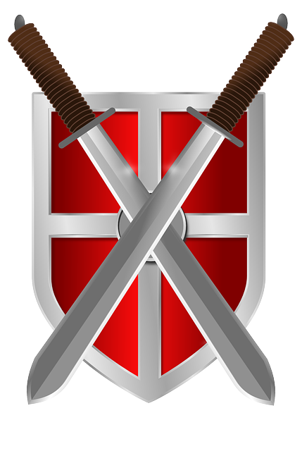Shield Swords Knight 183 Free Vector Graphic On Pixabay