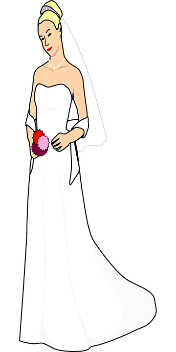 bride dress wedding free vector graphic on pixabay pixabay
