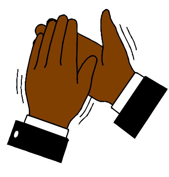 hands clapping applause free vector graphic on pixabay rh pixabay com hand clapping clip art animation clipart clapping hands animated