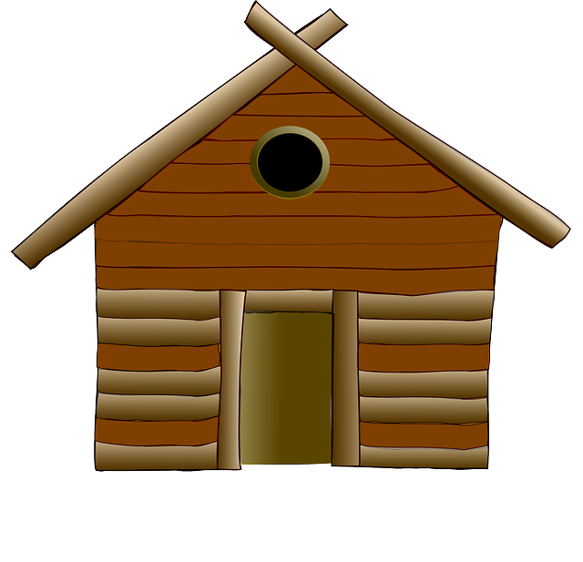 Log Cabin Cottage House · Free vector graphic on Pixabay House Made Of Sticks Cartoon