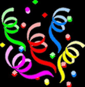 party decoration streamers confetti