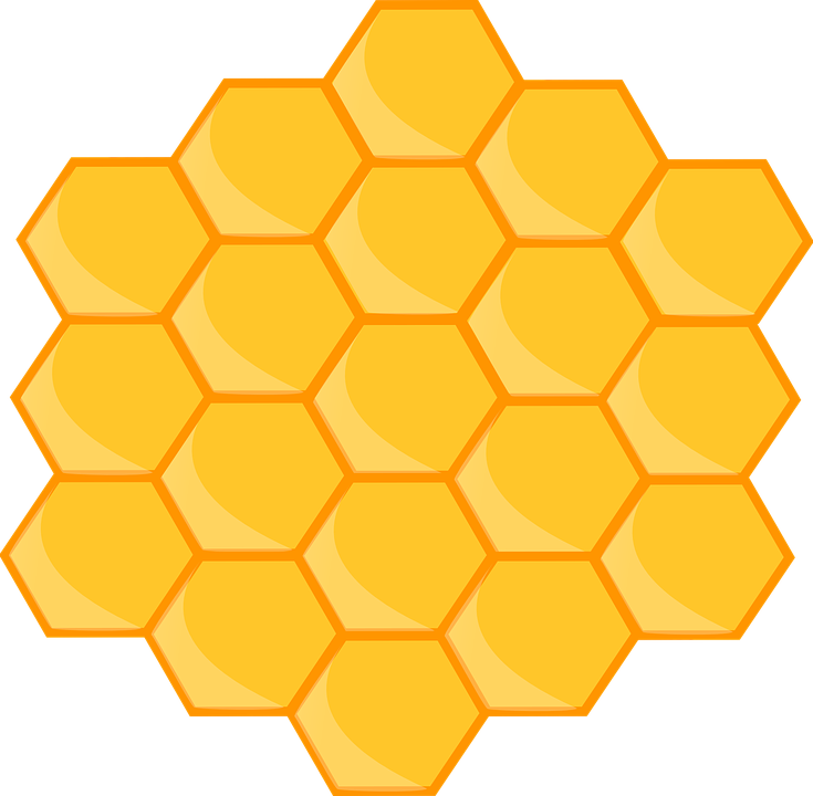 honeycomb design pattern 183 free vector graphic on pixabay