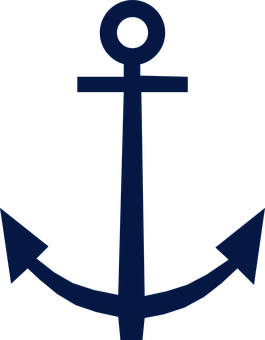 Anchor Blue Symbol Design Nautical Isolate