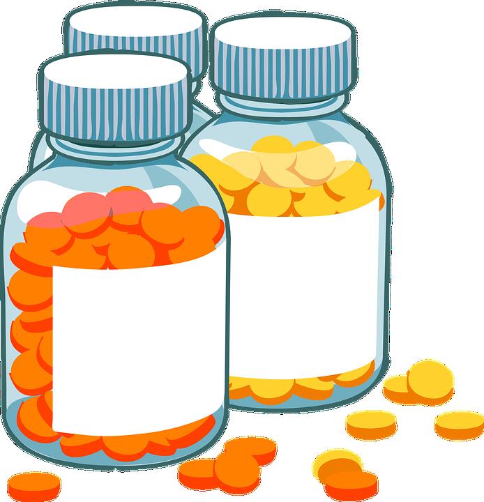 bottles pills medicine free vector graphic on pixabay rh pixabay com Prescription Pad Vector Vector Happy Patient