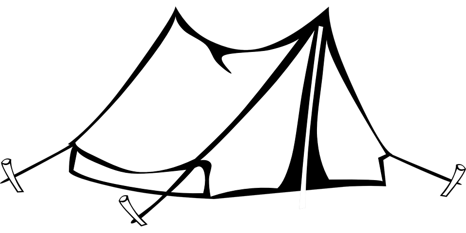 Camping Tent Drawing Free Vector Graphic On Pixabay