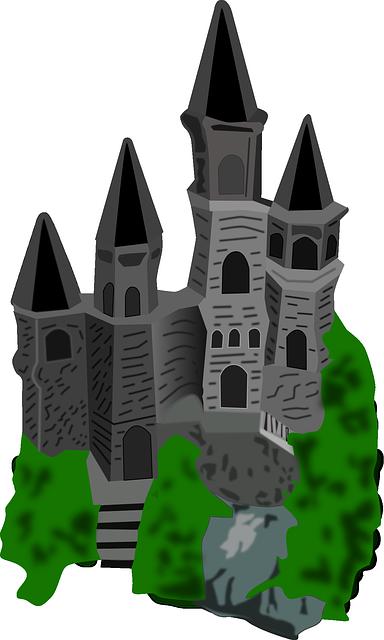 Immagine vettoriale gratis castello disegno cartone