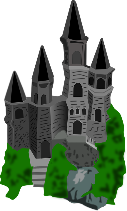 Castle Drawing Cartoon Free Vector Graphic On Pixabay