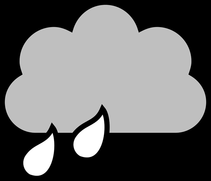Bulut Yagmur Damla Pixabay Da Ucretsiz Vektor Grafik