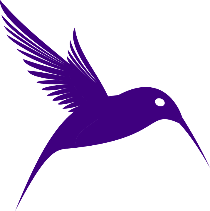 hummingbird silhouette flying free vector graphic on pixabay