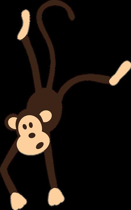 Monyet Kartun Karakter Gambar Vektor Gratis Di Pixabay