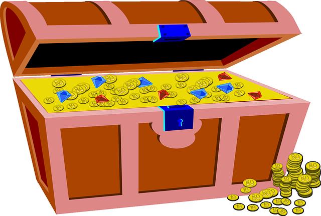 Treasure Toys Cartoon : Treasure box gold · free vector graphic on pixabay