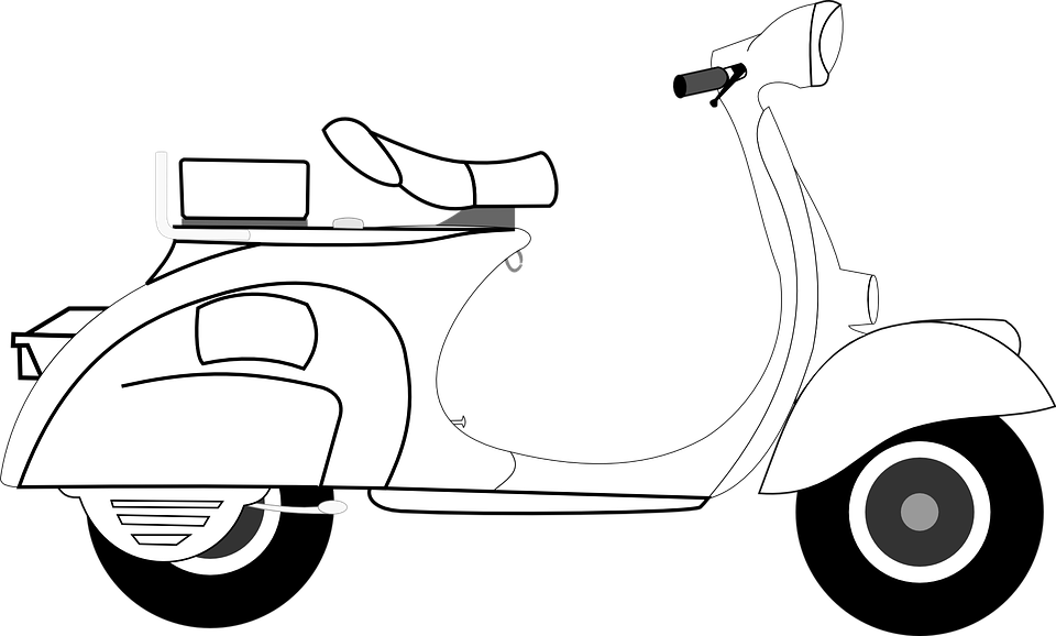 scooter vespa art free vector graphic on pixabay scooter vespa art free vector graphic