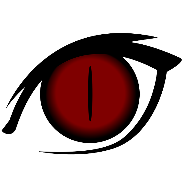 Free vector graphic: Eye, Cartoon, Isolated, Red, Cat ...