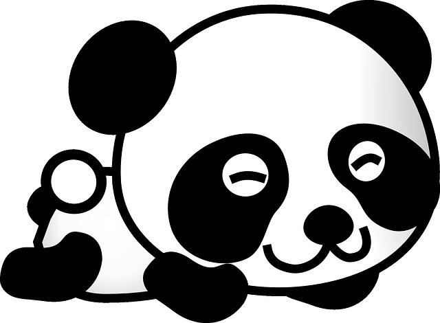 Panda Dibujos Animados Oso Gráficos Vectoriales Gratis En Pixabay