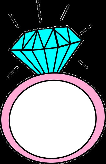 Anillo Dibujos Animados Diamante Gráficos Vectoriales Gratis En