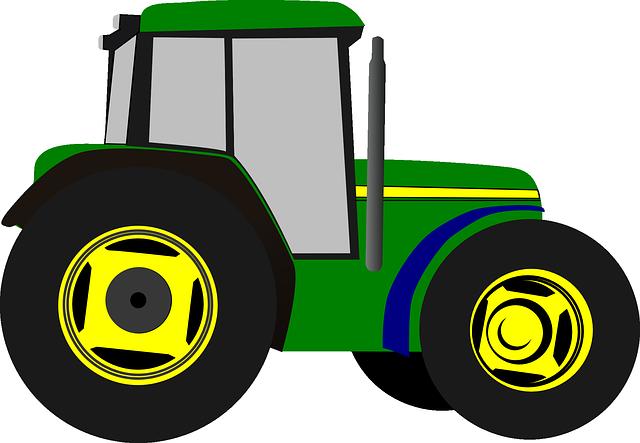 Image vectorielle gratuite tracteur dessin anim isol - Dessin anime de tracteur john deere ...
