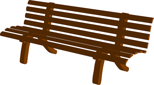 Lobby Bench Clip Art ~ Free vector graphic bench park brown wooden seat