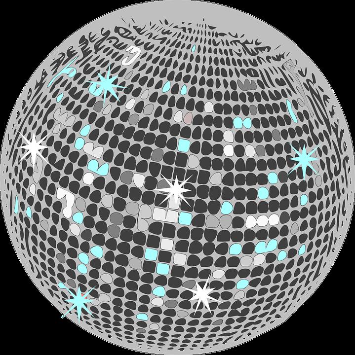 Disco ball glitter free vector graphic on pixabay - Bola de discoteca ...
