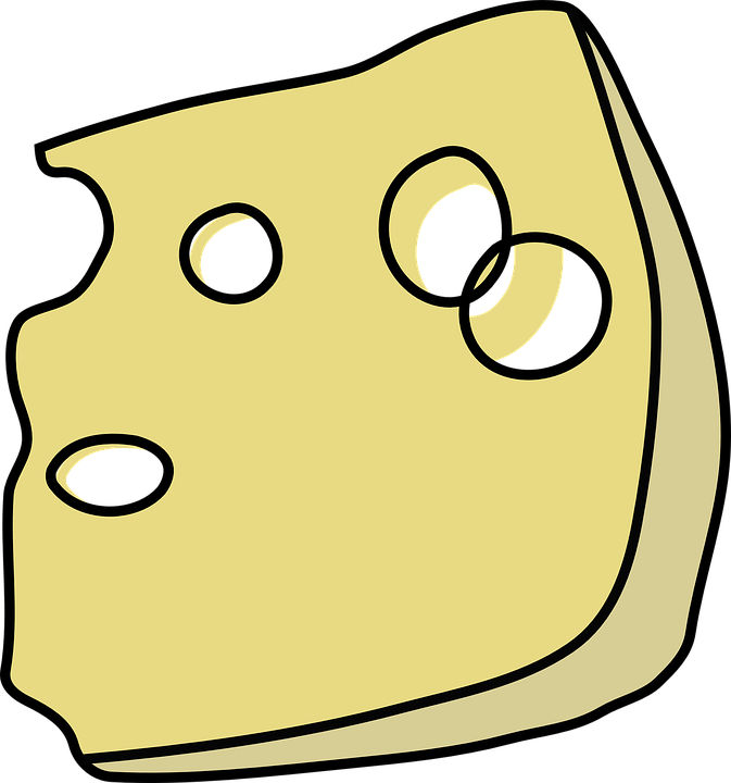 swiss cheese wedge free vector graphic on pixabay rh pixabay com clipart slice of cheese Swiss Cheese Slice Clip Art