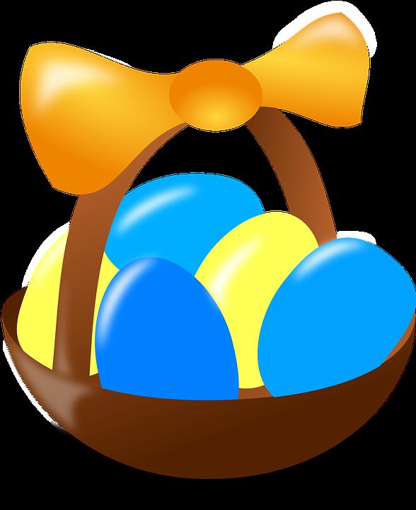 Paaseieren Pasen Mand Gratis Vectorafbeelding Op Pixabay