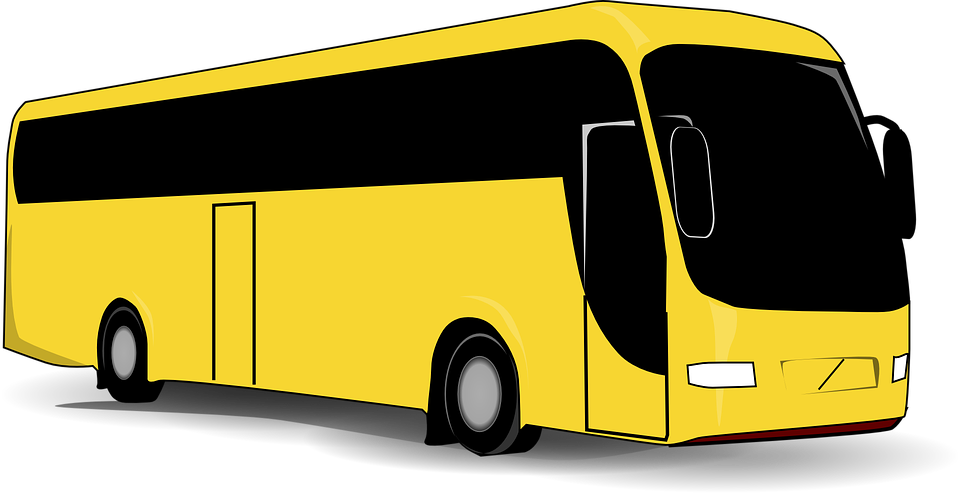 bus yellow black free vector graphic on pixabay