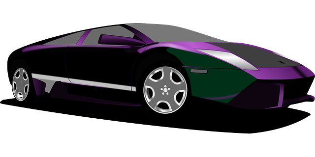 free vector graphic car purple sports car black free