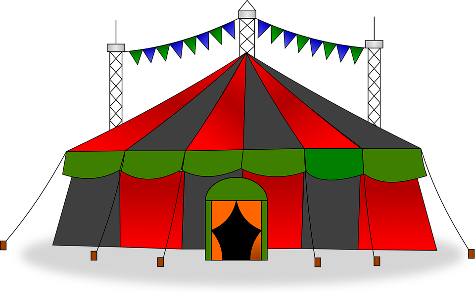 Circus Tent Big Top Show Stripes Carnival  sc 1 st  Pixabay & Free vector graphic: Circus Tent Big Top Show - Free Image on ...