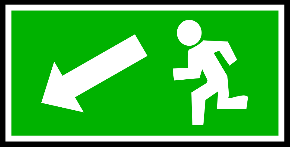 Free Vector Graphic: Emergency, Exit, Green, White