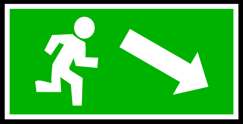 Emergency Exit Green · Free Vector Graphic On Pixabay