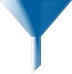 funnel, blue, cone