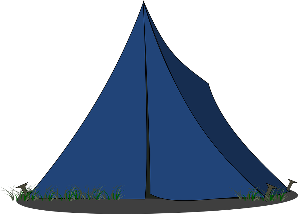 Tent C&ing Pitched Blue  sc 1 st  Pixabay & Free vector graphic: Tent Camping Pitched Blue - Free Image on ...