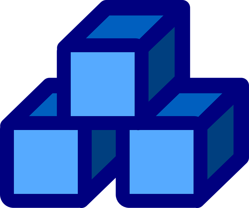 stack blocks blue free vector graphic on pixabay